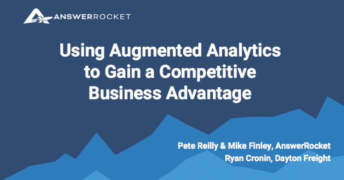 using augmented analytics to gain a competitive business advantage