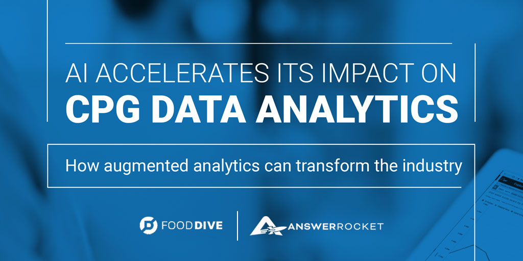 Click to read the Food Dive Playbook: AI Accelerates Its Impact on CPG Data Analytics