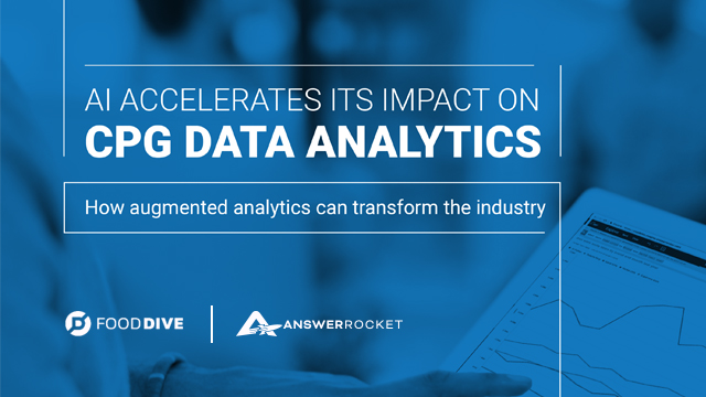 AI and augmented analytics transform the CPG industry.