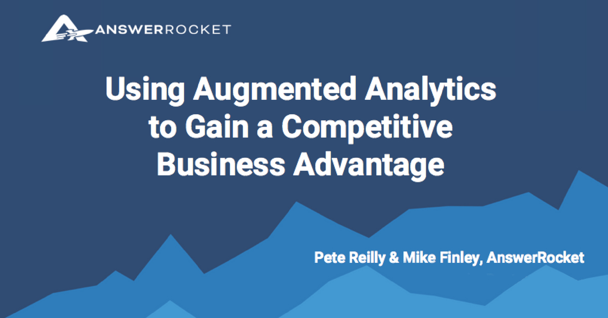 Learn more about augmented analytics with this informative webinar.