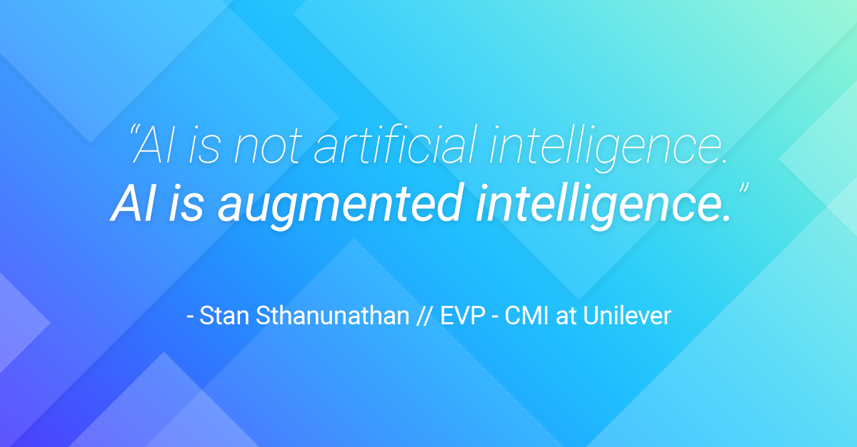 AI is augmented intelligence.
