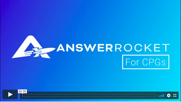 See how AnswerRocket helps CPGs