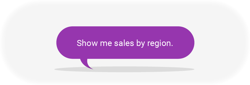 Sales by Region Thought Bubble