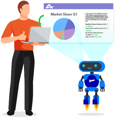 RocketBot composes a clear data story.