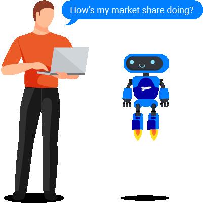 RocketBots receive natural language questions.