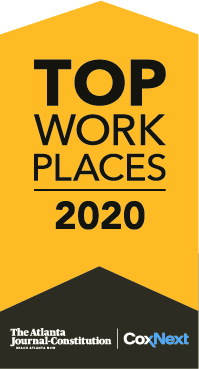 Top Work Places 2020 Logo from the Atlanta Journal Constitution