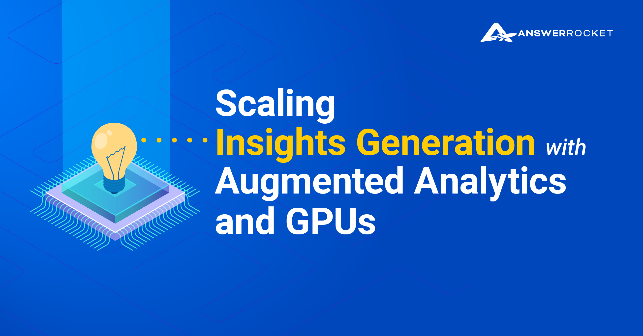 Scaling Insights Generation with GPUs