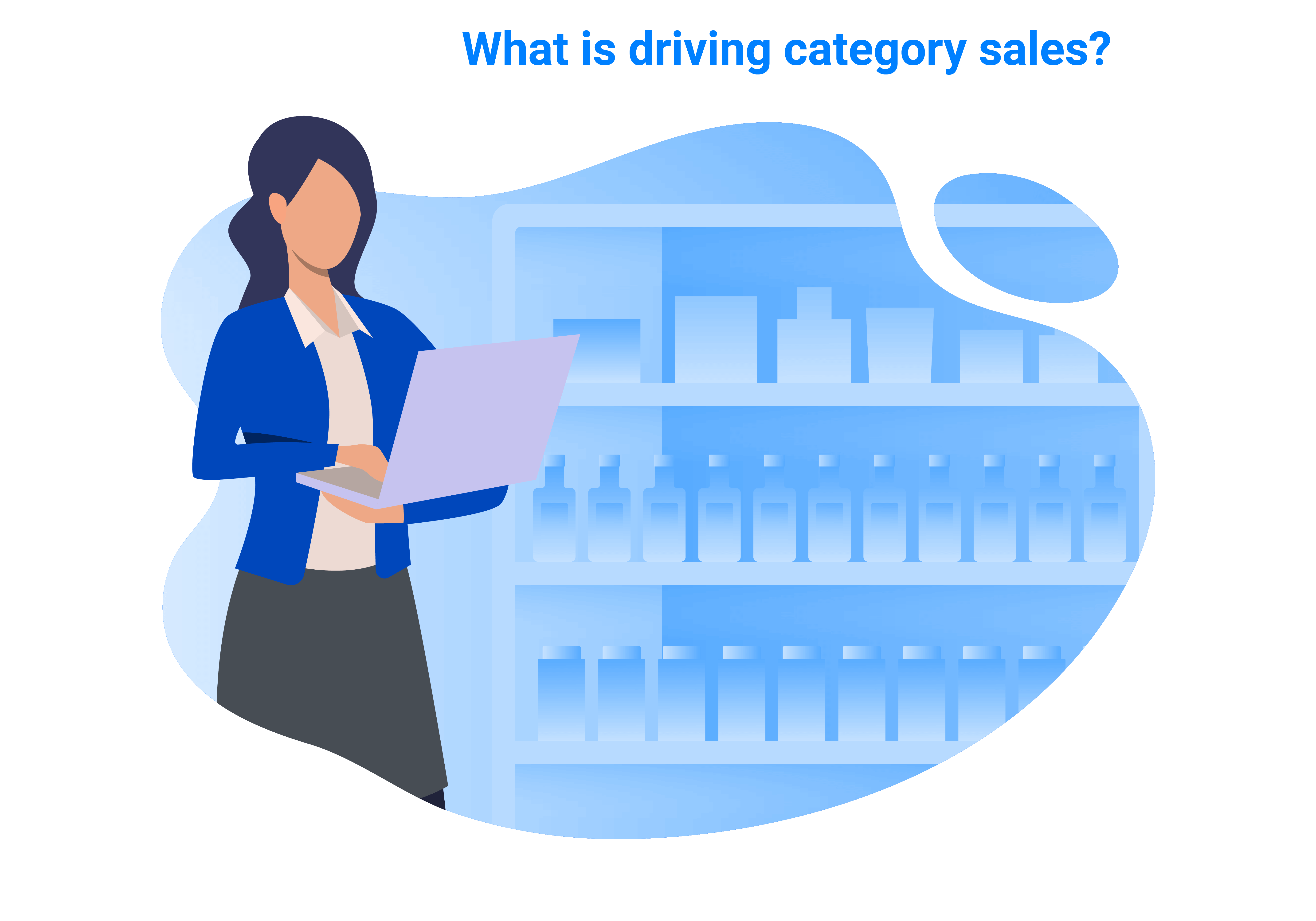 With retail analytics, you can ask questions like: ``how did my category do?``