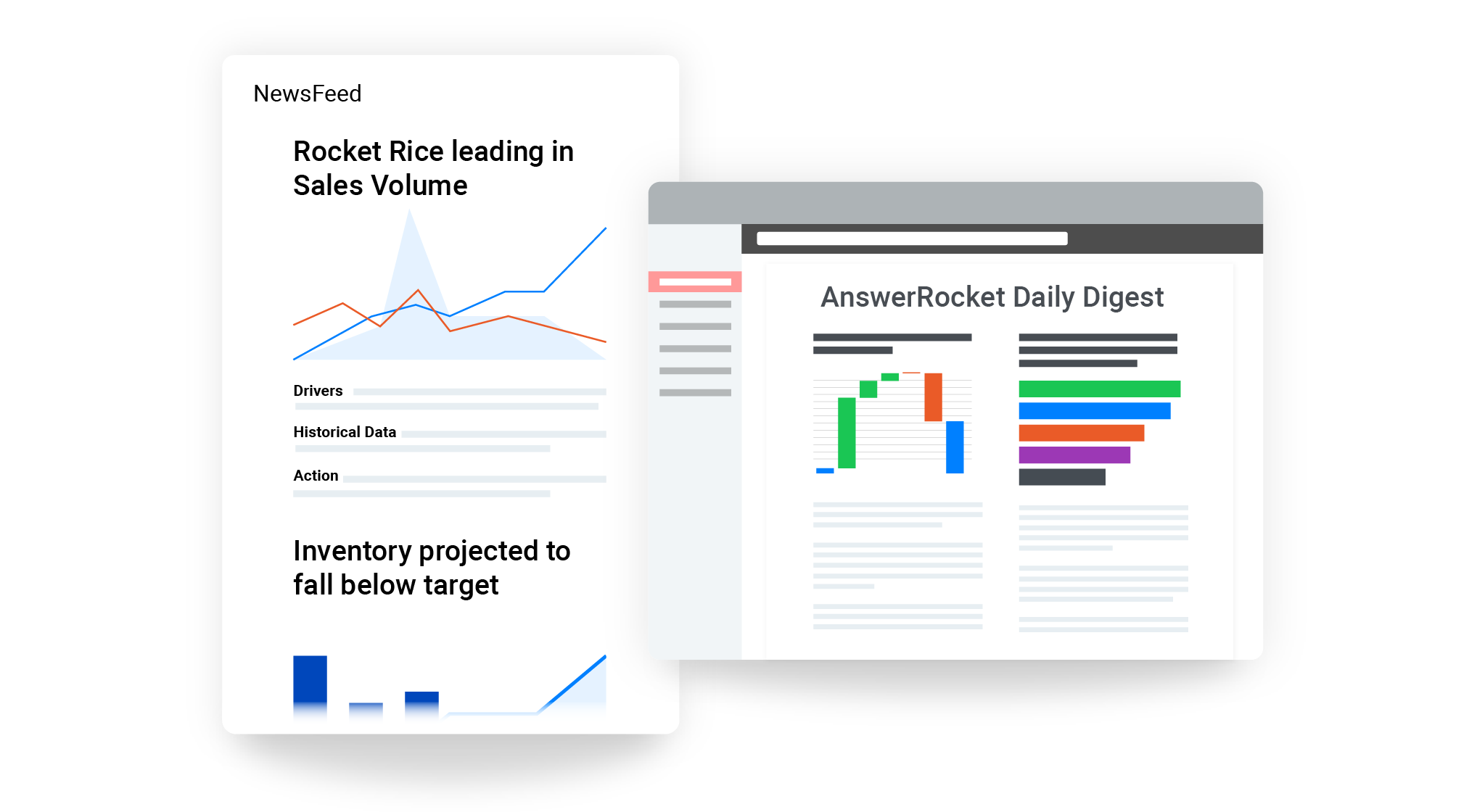 Curated stories show the most important findings from your brand analysis