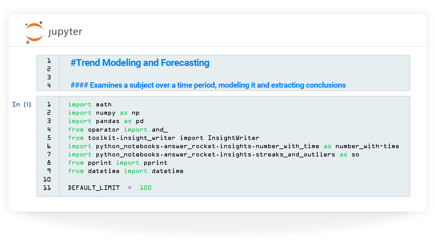 Iterate on models in Jupyter notebook
