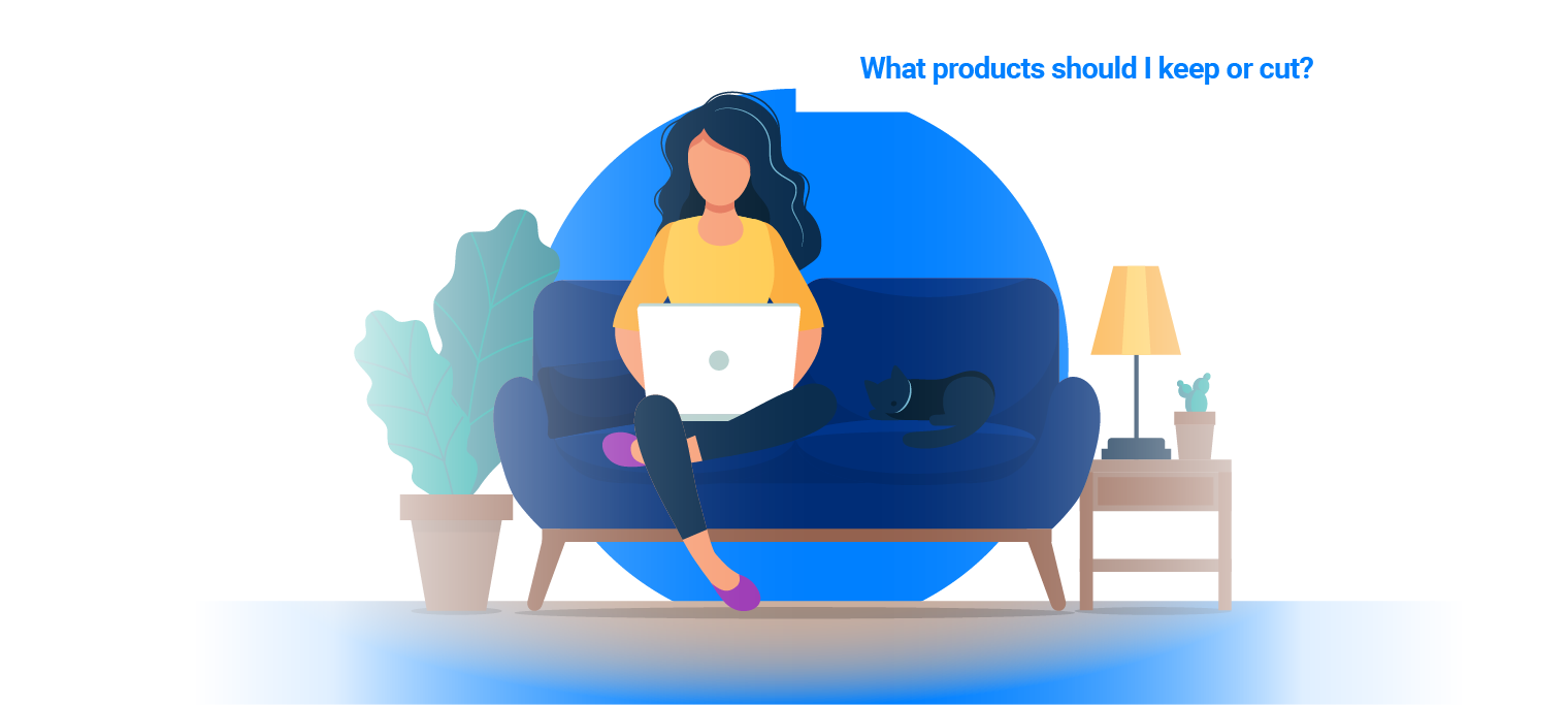 Answer questions like ``which products should I keep or cut`` with automated SKU rationalization